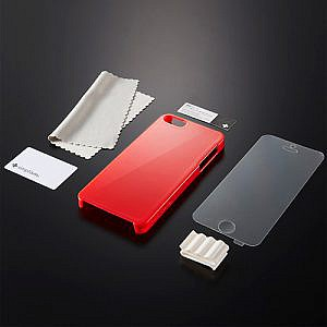 激変!Simplism Crystal Cover Set for iPhone 5の赤を購入レビュー