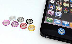 アルミ素材のiPhone用オリジナルホームボタン用シールが到着!大満足!