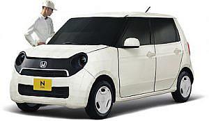 ホンダ N-ONE の1/1スケールのペーパークラフトが凄い!実車が欲しいけど、買えないからこれにするか……。