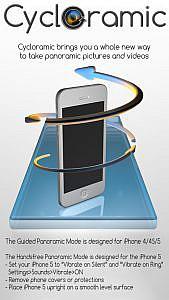 iPhoneが自転して動画を撮影するアプリ「Cycloramic」がバージョンアップ!写真モードも搭載!