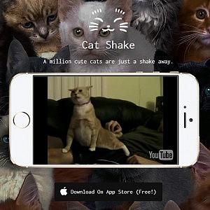 iPhoneを振って猫動画をランダムに再生!Cat Shakeが楽しい!